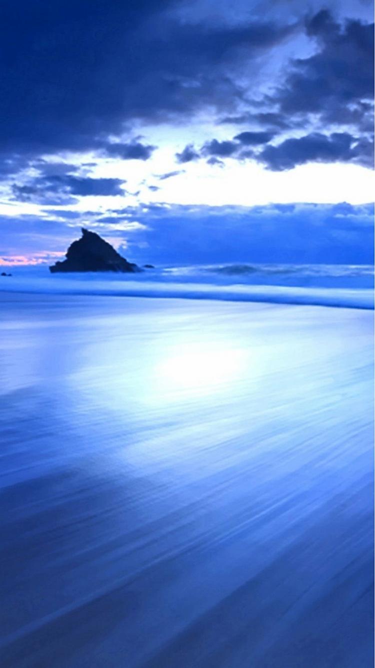 青の絶景 iPhone6壁紙