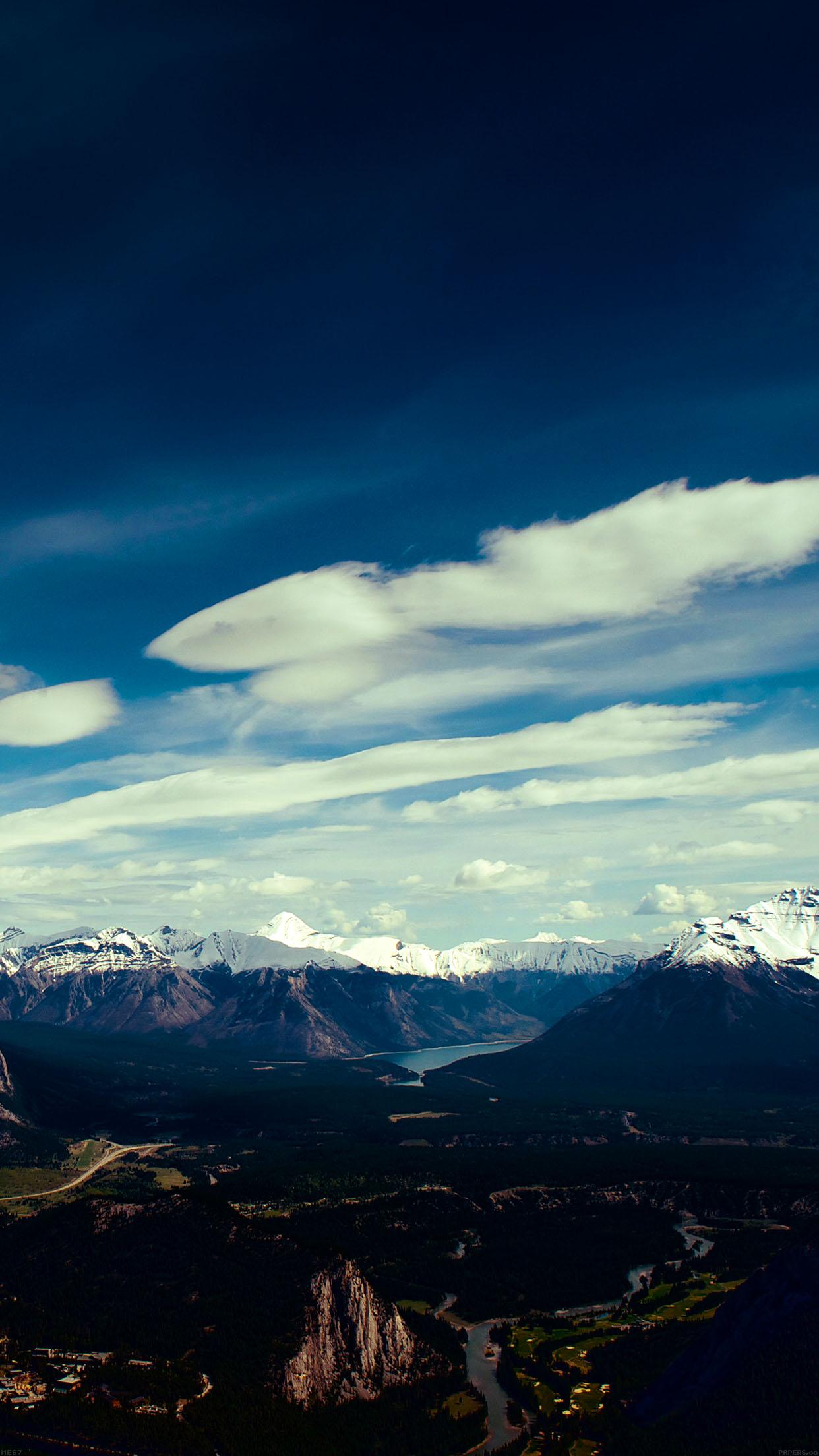 青空と美麗な景観 iPhone6 Plus壁紙
