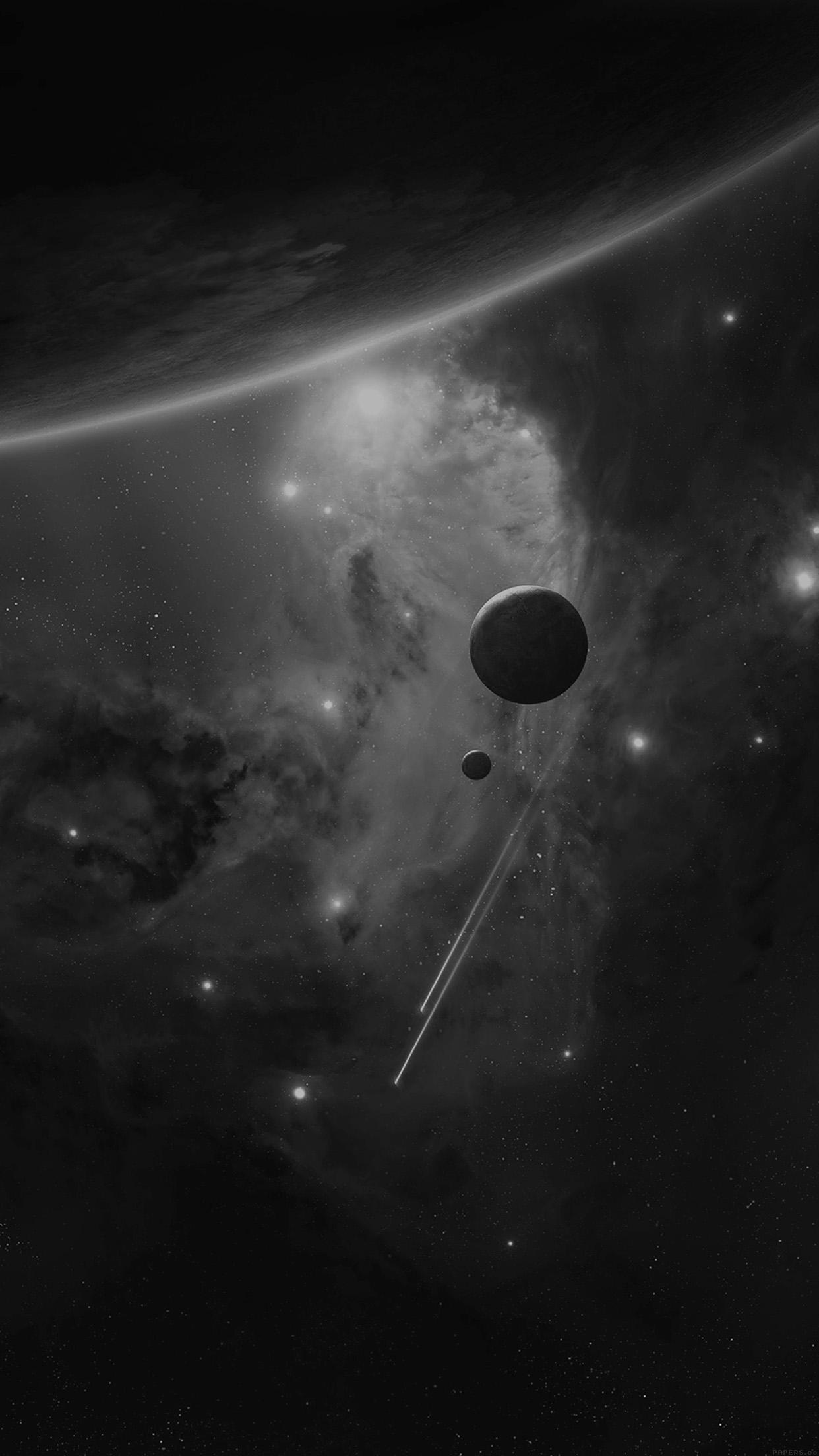 惑星と2つの彗星 iPhone6 Plus壁紙
