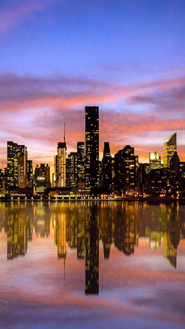 ニューヨークのビル群 iPhone6壁紙