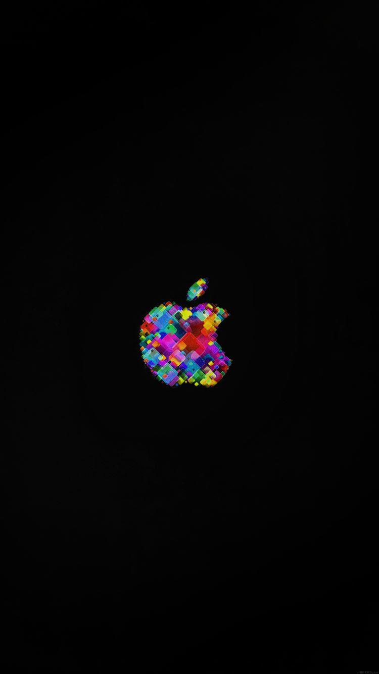 カラフルなリンゴマーク iPhone6壁紙