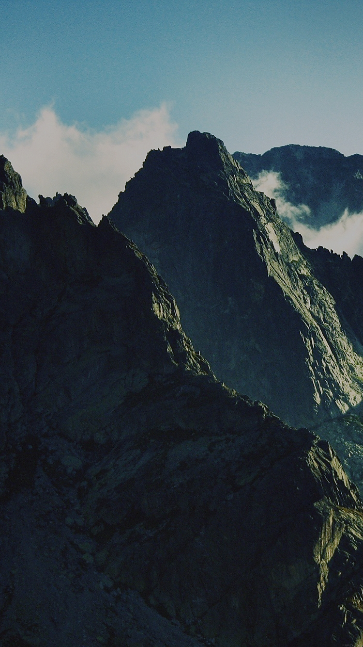 チベットの山脈 iPhone6壁紙