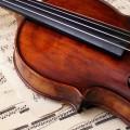 バイオリンと楽譜 iPhone6壁紙