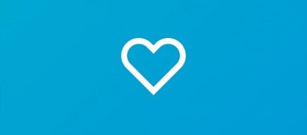 青いハート iPhone6壁紙