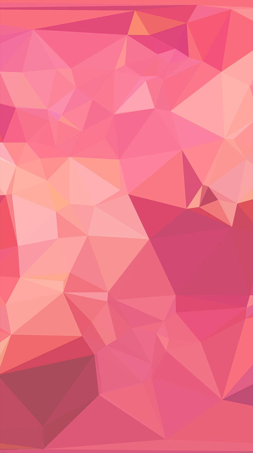 ポップなピンクのポリゴン iPhone6壁紙