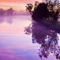 紫の空・川 iPhone6壁紙