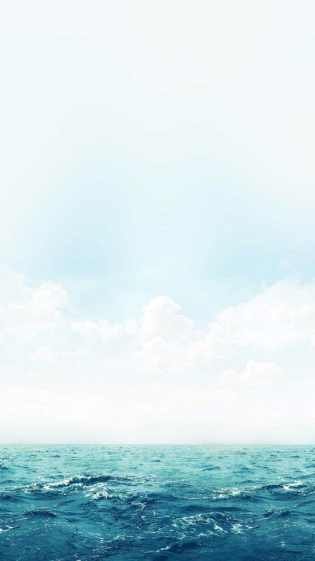 静かな冬の海 iPhone6壁紙
