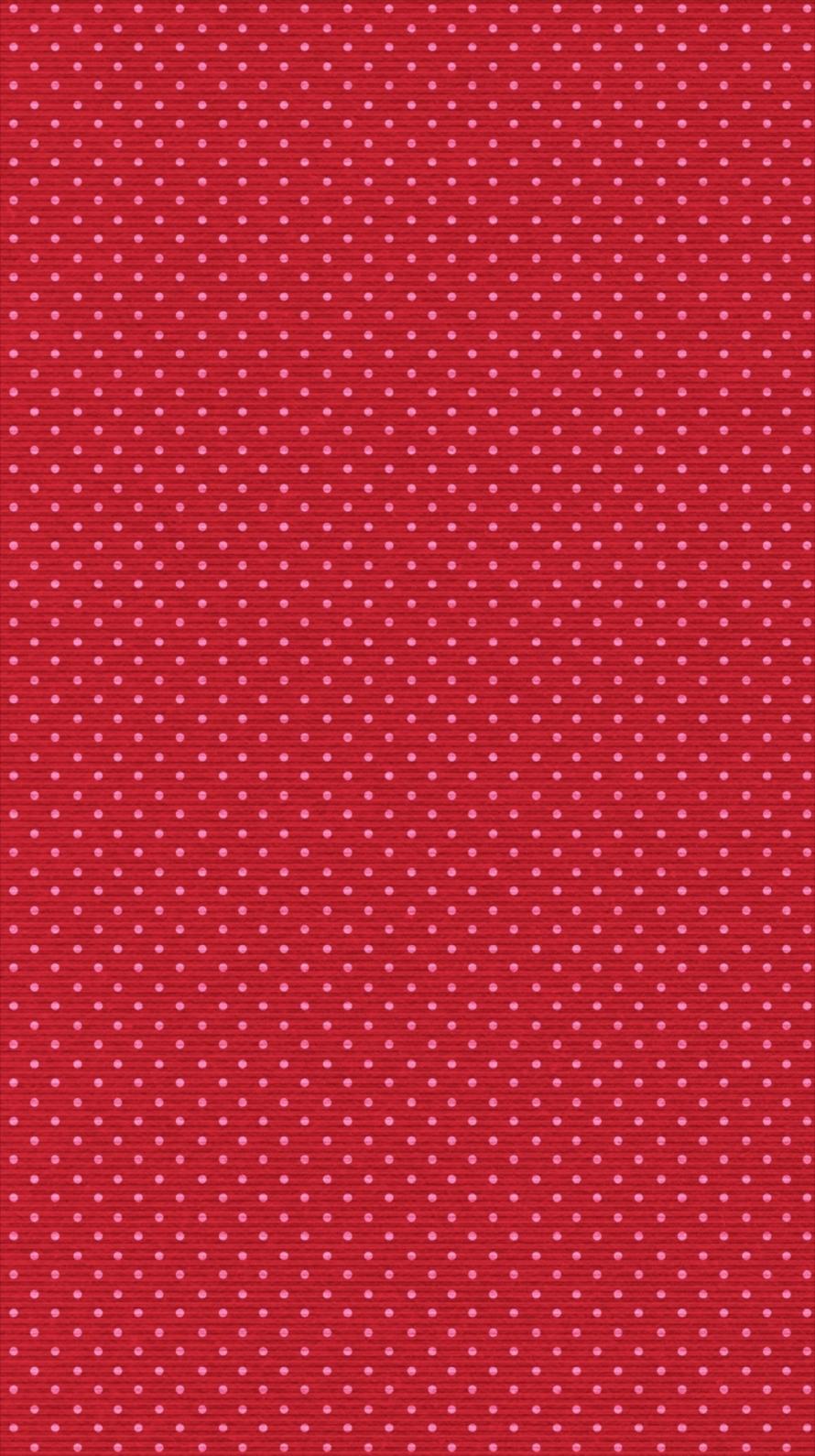 赤地 ピンクの水玉 iPhone6壁紙