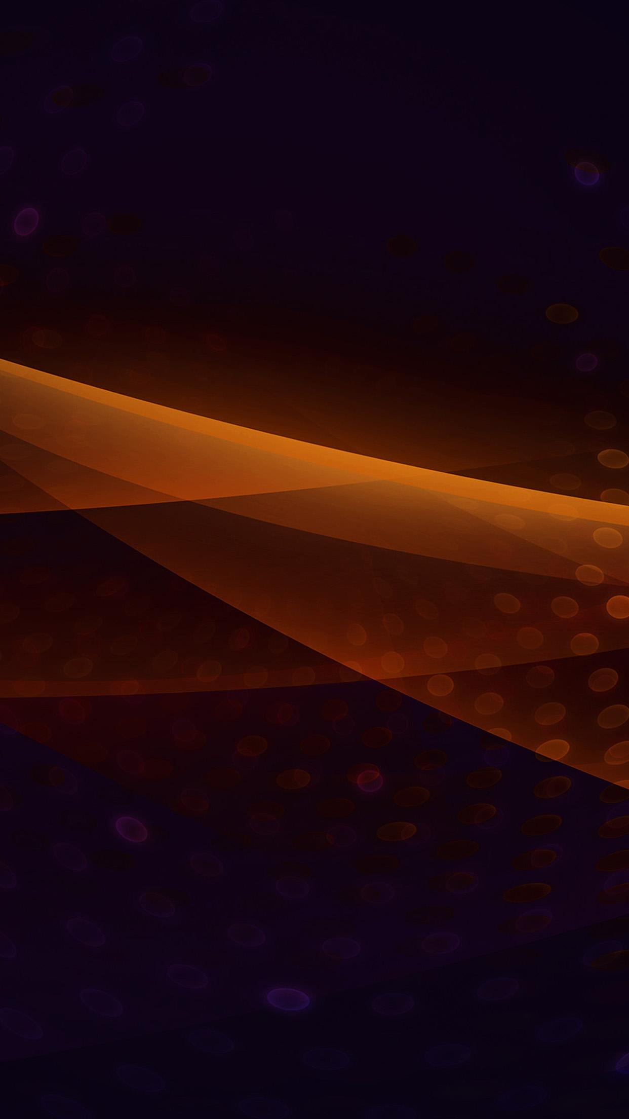 紫の背景 オレンジの波形 iPhone6壁紙