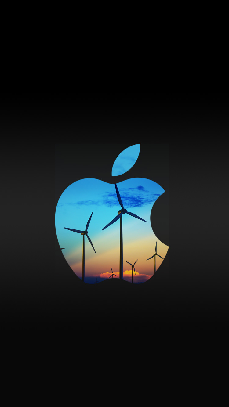 アップルマーク 風車 iPhone6壁紙 | WallpaperBox