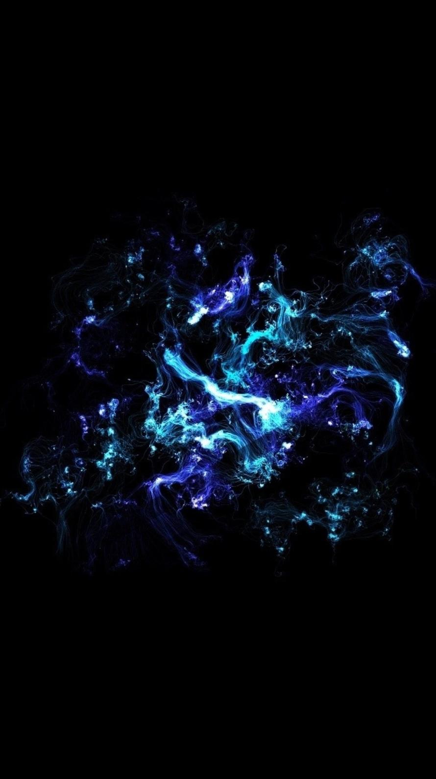 青と紫の光 iPhone6壁紙