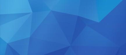 青い濃淡のあるポリゴン iPhone6壁紙