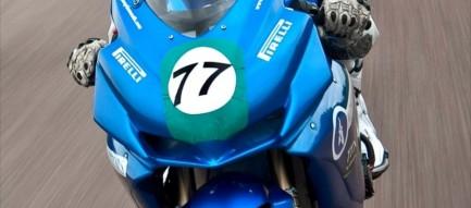 バイクレーサー 青 iPhone6壁紙