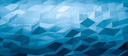 青い凸凹のポリゴン iPhone6壁紙