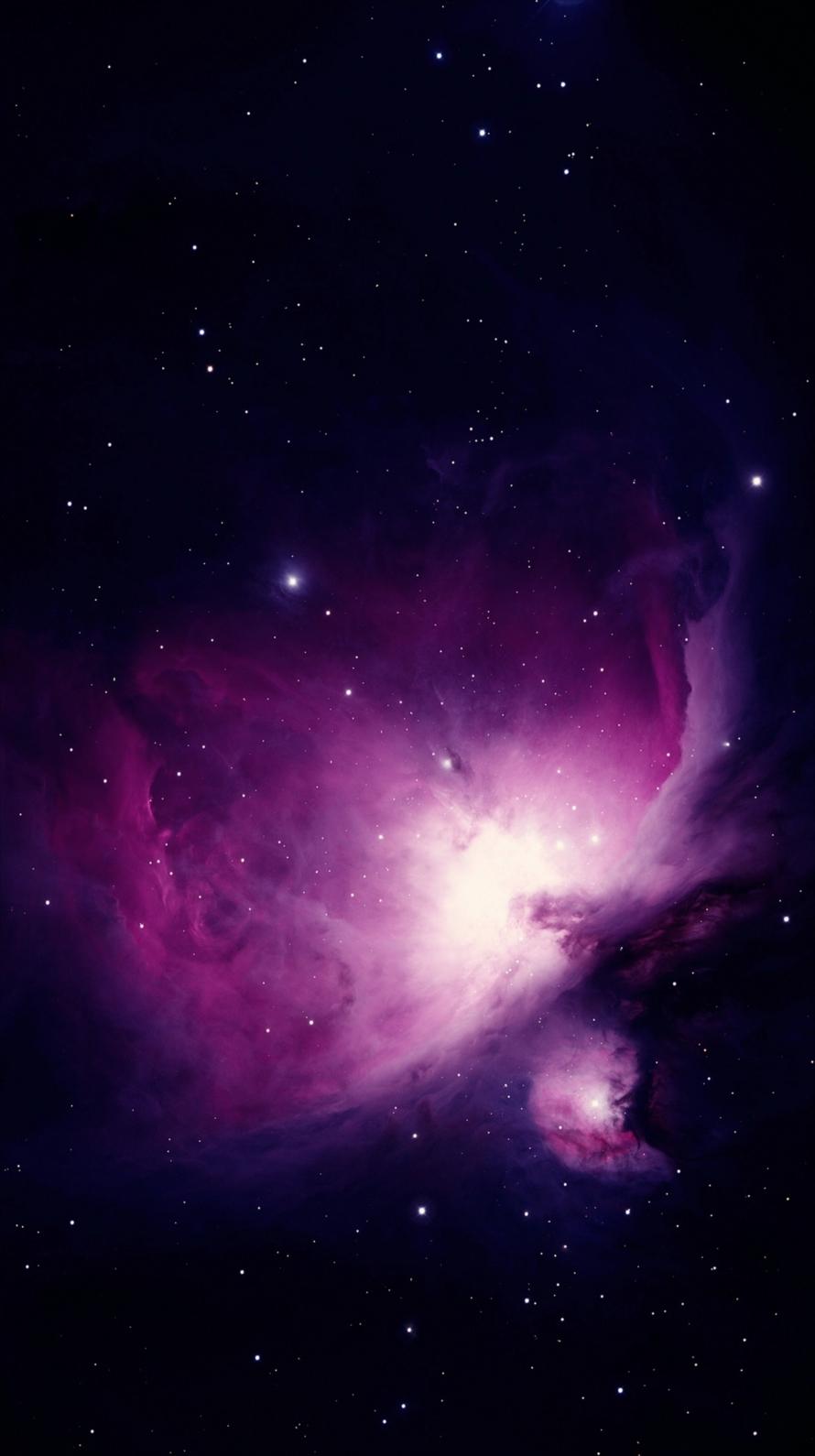 紫の宇宙 ギャラクシー Iphone6壁紙 Wallpaperbox