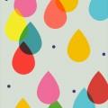 カラフル レインドロップ iPhone6壁紙