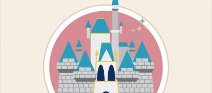 ディズニーランド シンデレラ城 イラスト iPhone6壁紙