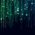 キラキラ 緑 ライン iPhone6壁紙