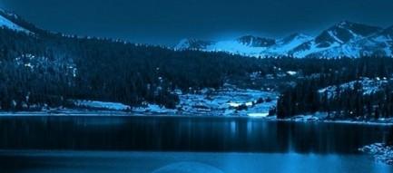 静かな満月の夜 iPhone6壁紙