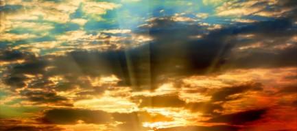夕日と真っ直ぐな道 iPhone6壁紙