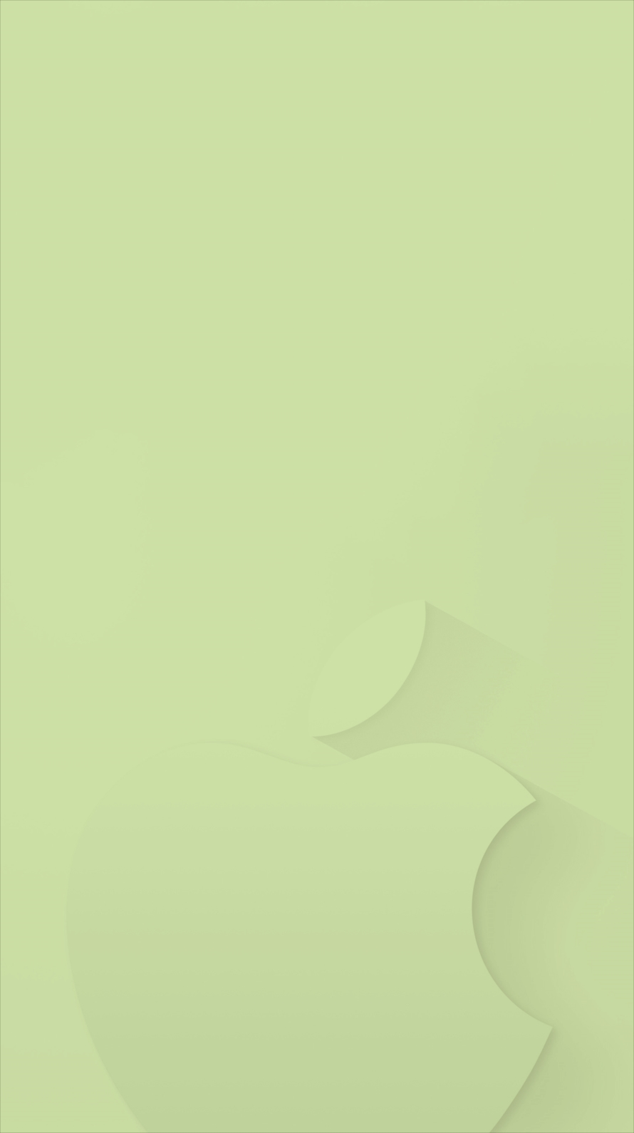 flat green apple logo iPhone6壁紙