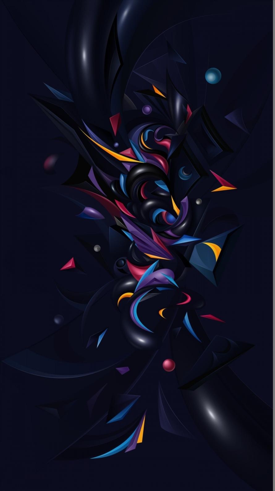 ブラックコラージュ Iphone6壁紙 Wallpaperbox