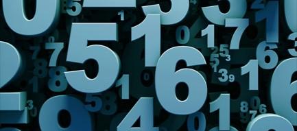 数字 タイポグラフィー iPhone6壁紙