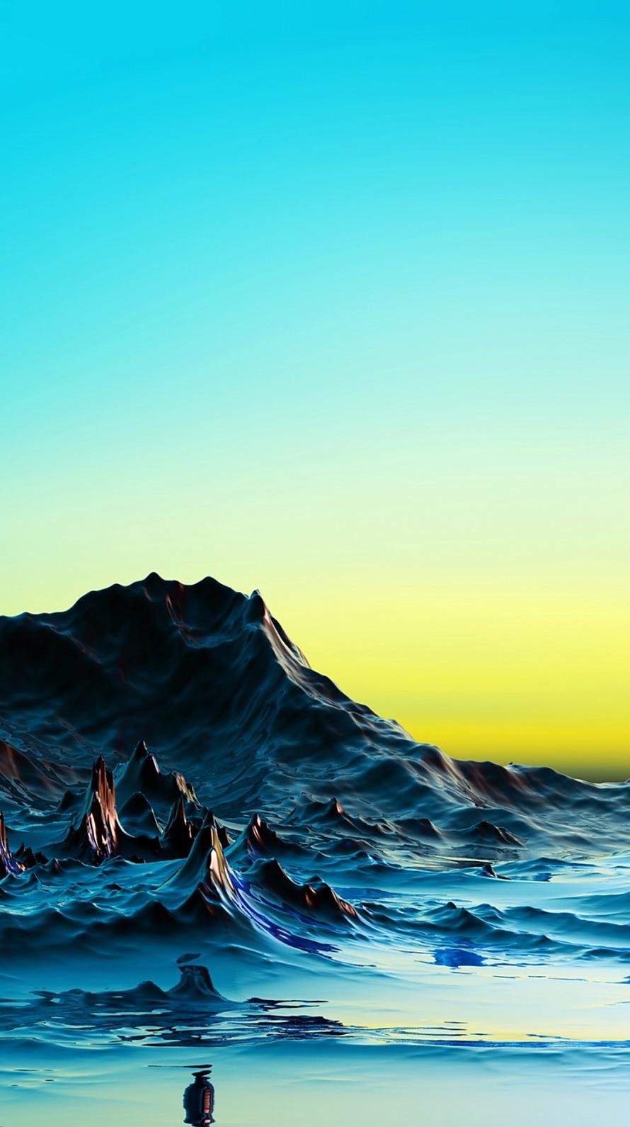 幻想的な青い世界 iPhone6壁紙