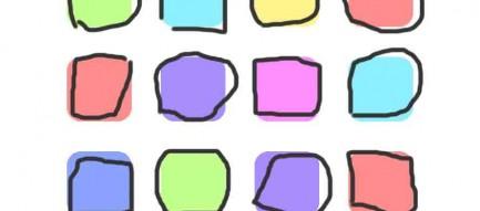 カラフル 手書き iPhone6壁紙