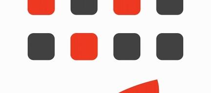 赤と黒 ポップなiPhone6壁紙