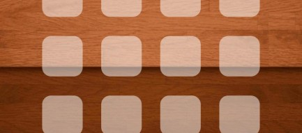 木目 グラデーション ホーム画面 iPhone6壁紙