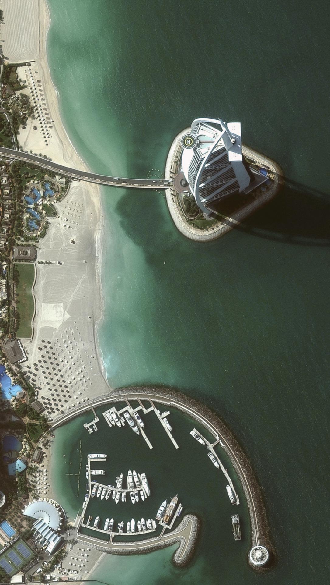 海と都会 iPhone6壁紙