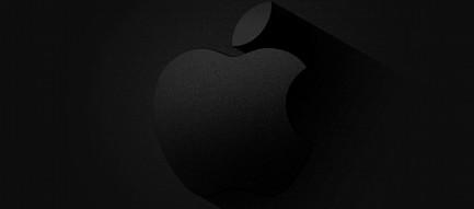 黒のグラデーション Appleロゴ iPhone6壁紙