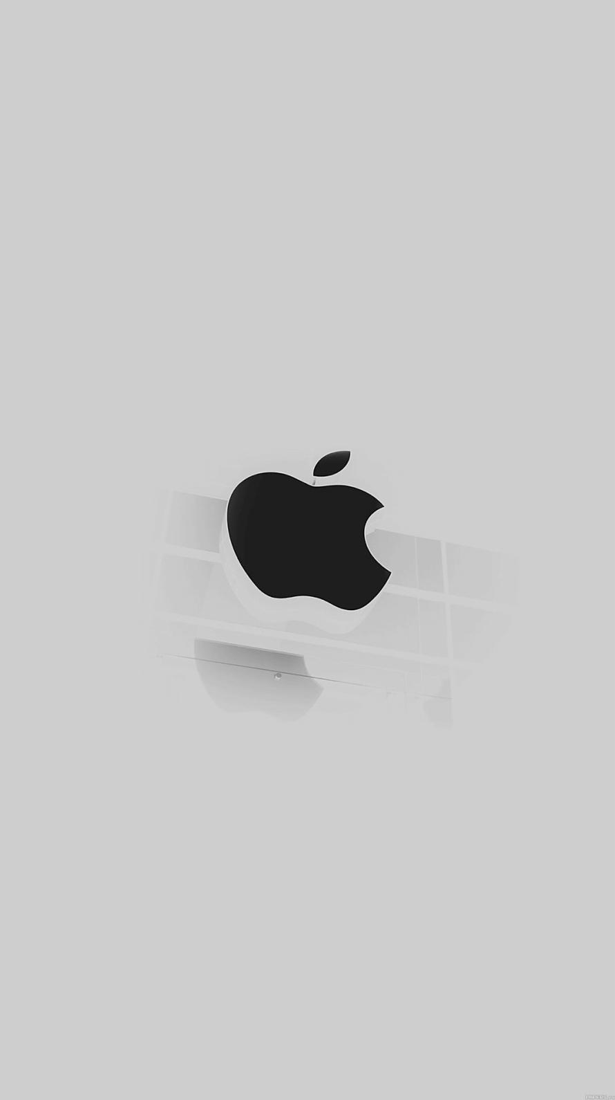 フラット アップルロゴ iPhone6壁紙
