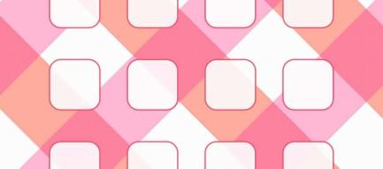 ピンク 2トーンカラー iPhone6壁紙