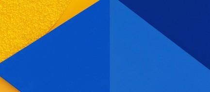 青と黄色の交わるiPhone6壁紙
