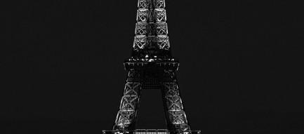 夜 パリのエッフェル塔 iPhone6壁紙
