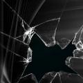黒の割れたガラス iPhone6壁紙
