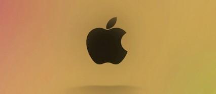 飴色 アップルロゴ iPhone6壁紙