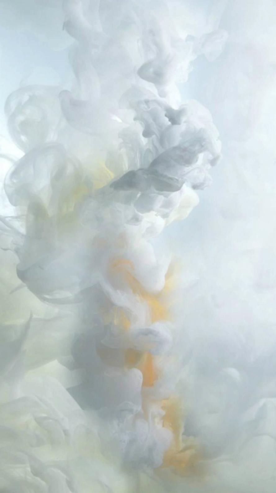 白い煙 iPhone6壁紙
