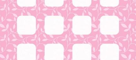 ピンク 草 模様 iPhone6壁紙