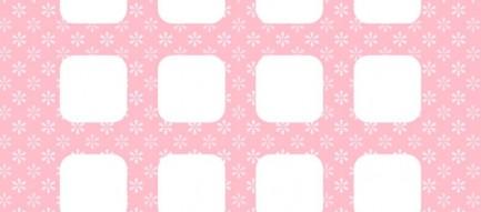 かわいいピンクの花柄 iPhone6壁紙