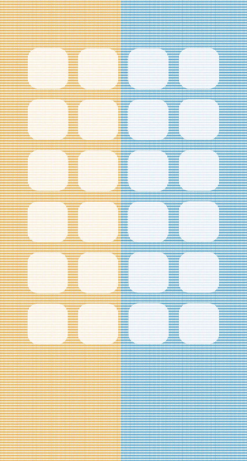 黄色と青色のドット 棚 iPhone6壁紙