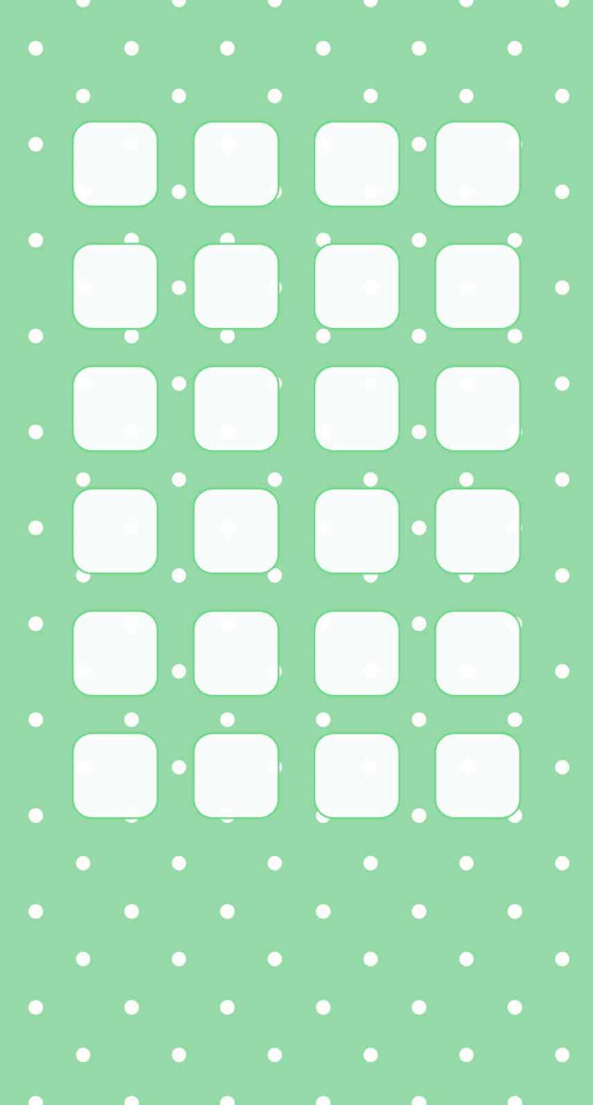 ライトグリーン 水玉 iPhone6壁紙