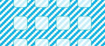 水色 モコモコ ストライプ iPhone6壁紙