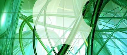 緑 うねるライン iPhone6壁紙
