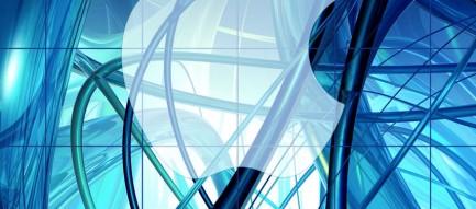 青 うねるライン iPhone6壁紙