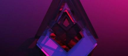 紫のクリスタル iPhone6壁紙