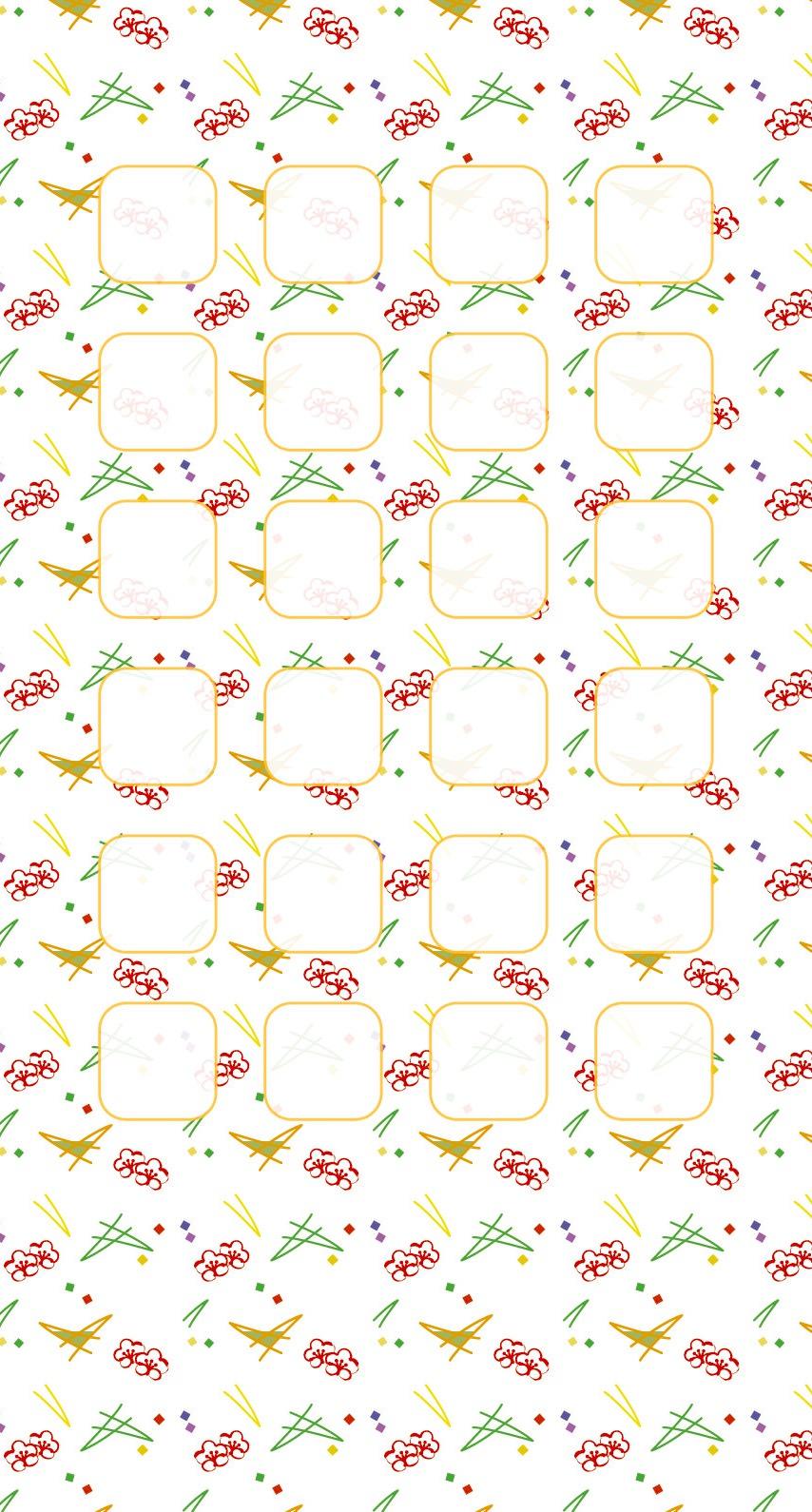 和 花模様 柄 iPhone6壁紙