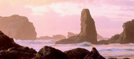 夕暮れの浜辺 iPhone6壁紙